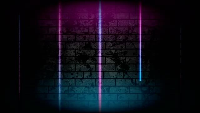 Blue purple neon lines technology grunge motion background