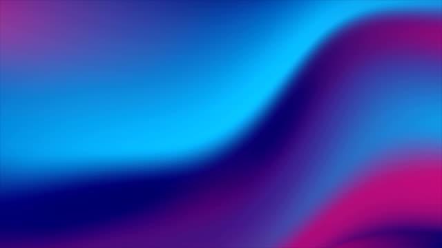 blau lila neon glatte flüssigkeit wellen abstrakte bewegung hintergrund - holografisch stock-videos und b-roll-filmmaterial
