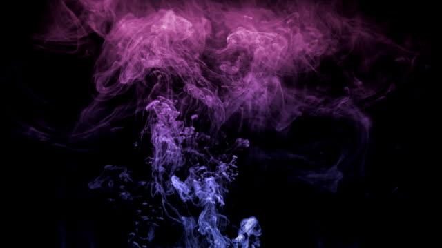 HD blue purple smoke rising video