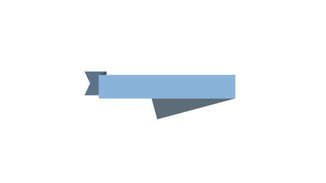 블루 리본상 애니메이션 - ribbon 스톡 비디오 및 b-롤 화면