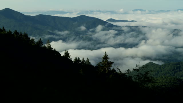 Blue Ridge Mountain Fog Time-lapse video