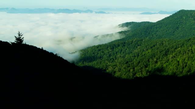 Blue Ridge Mountain Morning Fog Time Lapse Tight video