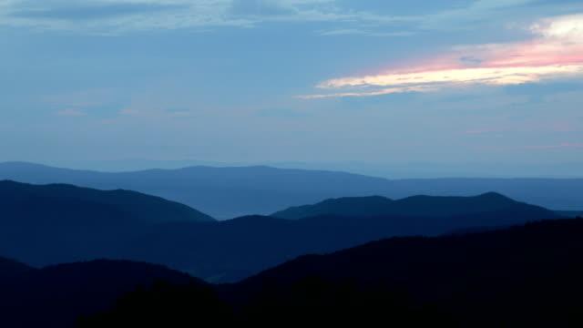 Blue Ridge Mountain Sunset Pan