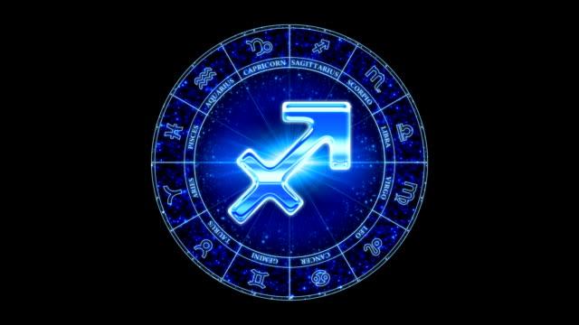vidéos et rushes de sagittaire zodiacal symbole bleu - ligue sportive