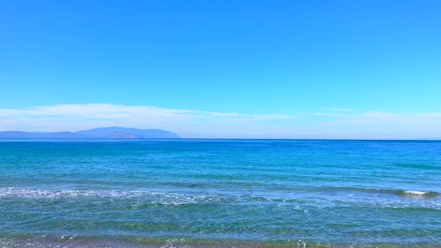 Blue Sea And Clouds Vibrant  blue sea and clouds vibrant colours aegean sea stock videos & royalty-free footage