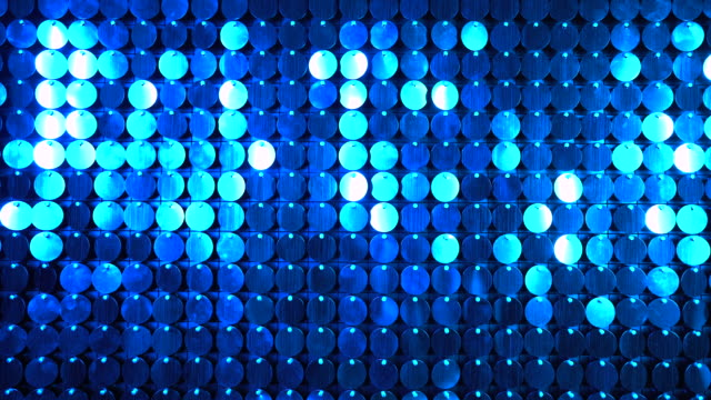 Blue sequins sparkling reflective background. Abstract kinetic glitter wall moving. Night club decoration. Can be used as transitions, added to modern projects,art backgrounds. Blue sequins sparkling reflective background.Abstract kinetic glitter wall moving. Night club decoration. Can be used as transitions, added to modern projects,art backgrounds. sequin stock videos & royalty-free footage