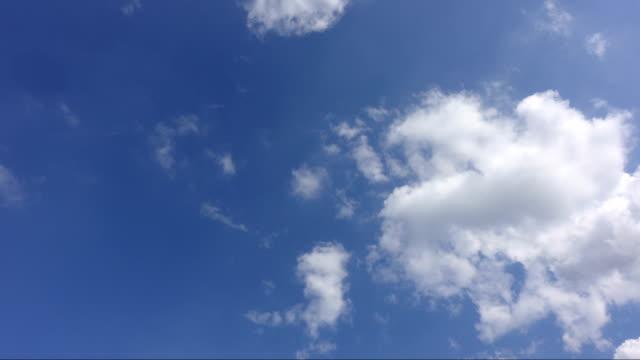 blue sky and white cloud, timelapse - quality video stock e b–roll