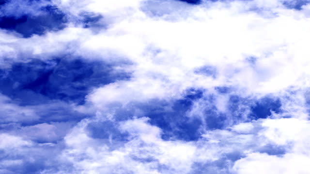 Blue Sky Clouds Moving Horizontally video