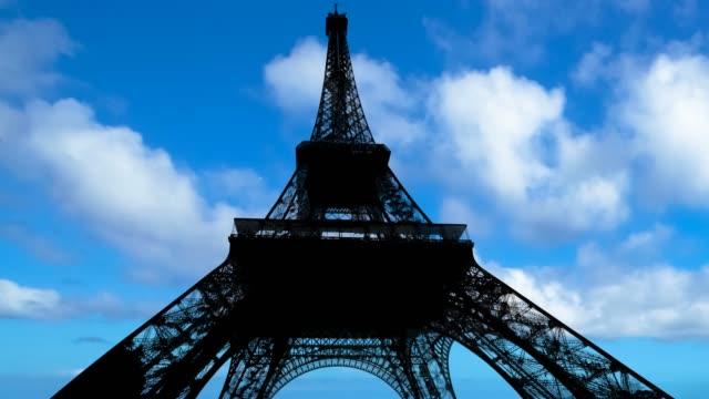 blue sky Eiffel Tower Time-lapse