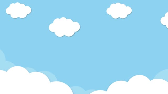 Blue sky full of clouds moving right to left. Cartoon sky animated gradient background. Flat animation. 4k Blue sky full of clouds moving right to left. Cartoon sky animated gradient background. Flat animation. 4k summer background stock videos & royalty-free footage