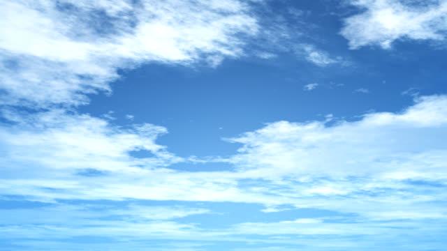 vídeos de stock, filmes e b-roll de céu azul loop 005 - cirro