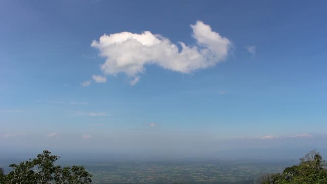 blue sky with cloud background video