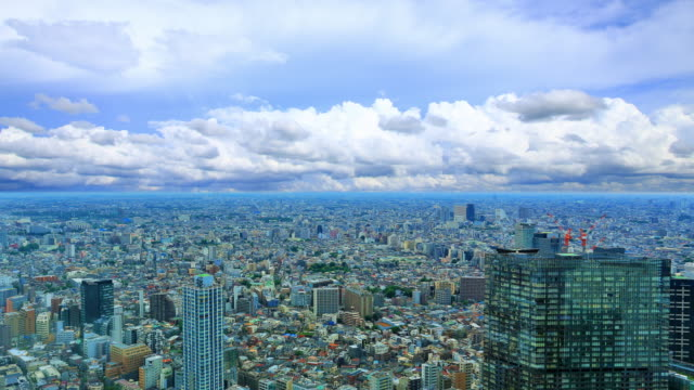 Blue Sky with Cloud scape over at Tokyo metropolitan government building in Japan