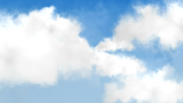Blue sky with clouds background. Seamless loop. video