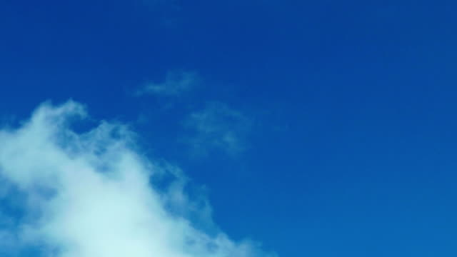 Blue sky with clouds background video
