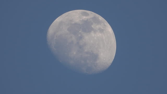 blue sky with moon.