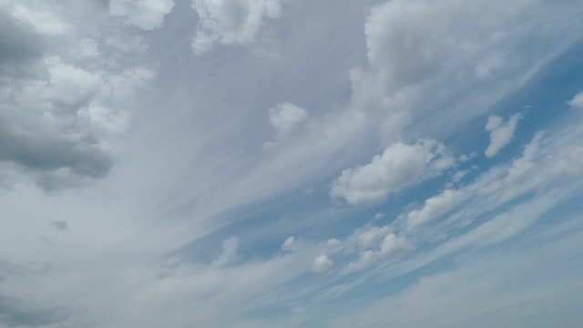 Blue Sky with Quick Clouds video