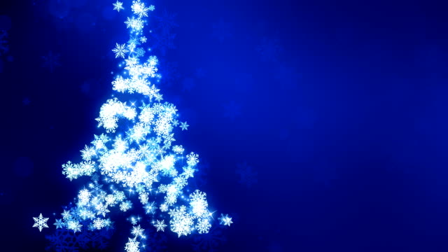 Blue Snow Flake Christmas Tree Glowing SnowFlakes Christmas Tree background animation suited for broadcast, commercials and presentations. It can be used in Celebration, Party,christmas,holidays and Fashion or New Year animations. {{asset.href}} stock videos & royalty-free footage