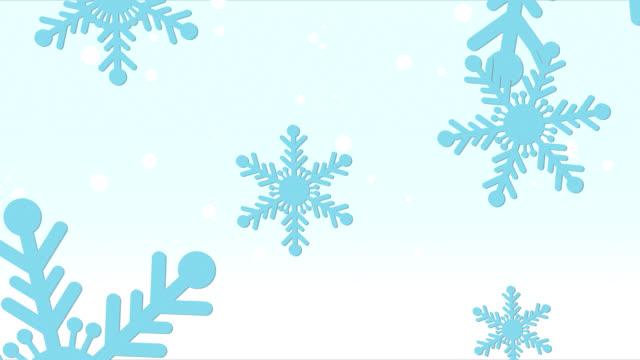 Blue Snowflakes Falling HD video