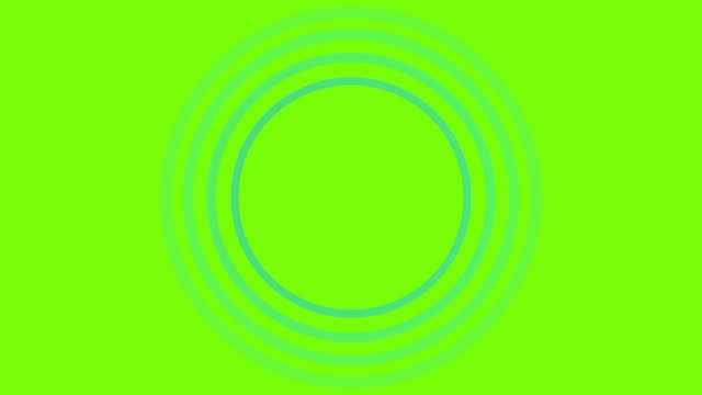 4K Blue Sonar Circle Loopable with green screen