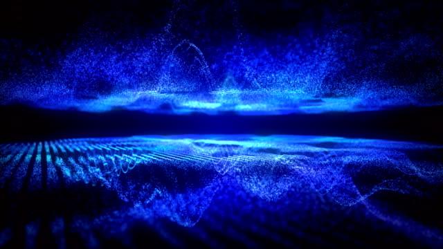 blue sound visualizer nice partice. - ultra high definition television filmów i materiałów b-roll