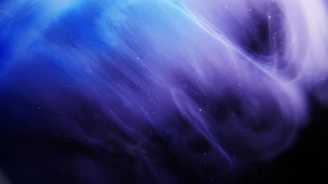 blue space nebula moln kosmisk textur bakgrund - akrylmålning bildbanksvideor och videomaterial från bakom kulisserna