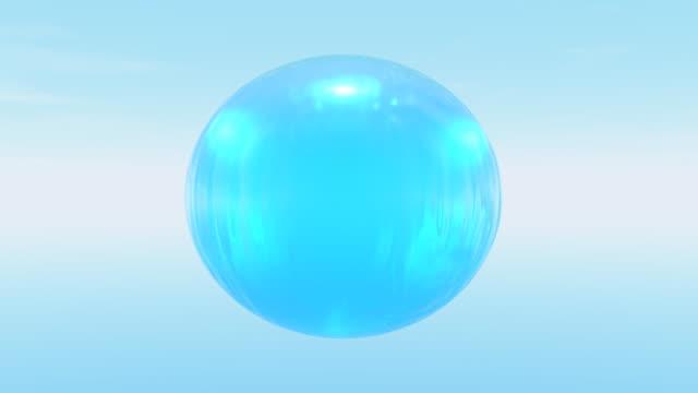 ブルーご来店感謝の球 - 球形点の映像素材/bロール