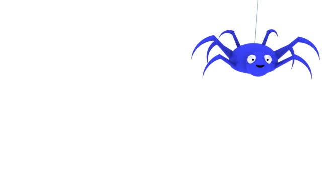 3d blue spider dropping in and out - spindel arachnid bildbanksvideor och videomaterial från bakom kulisserna