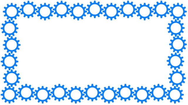 Blue spinning cogs frame video