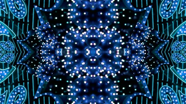 Blue Starburst Neon Frame - Las Vegas, Nevada video