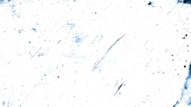 Blue Stop motion animation, high contrasted grungy and dirty, animated, distressed and smudged 4k loopable video background with street style texture