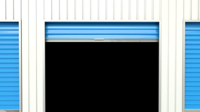 blue aufbewahrung tür öffnet. - garage stock-videos und b-roll-filmmaterial