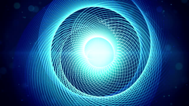 blue swirl shape loopable animation video