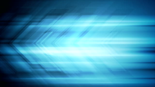 Blue tech arrows abstract video animation video