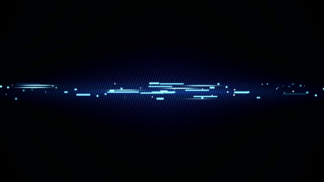 blue technology line loopable animation video