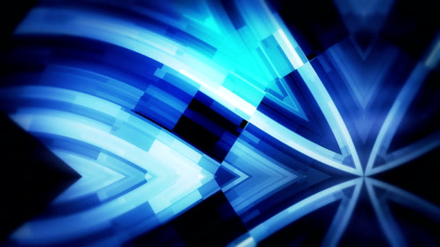 Blue technology loopable wavy  kaleidoscope background video