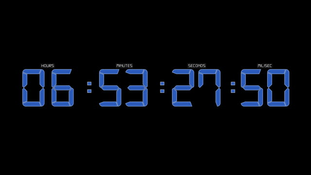 Blue timecode running video