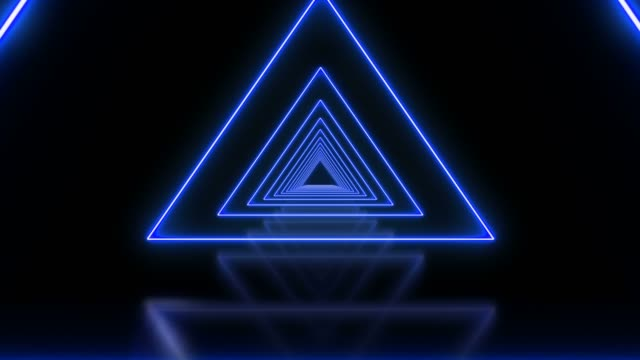 blue triangle abstract looped background tunnel - бесконечность стоковые видео и кадры b-roll