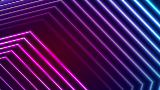 Blue ultraviolet neon laser beam lines video animation video