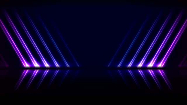 Blue ultraviolet neon laser lines technology video animation