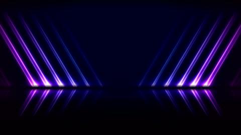 mavi ultraviyole neon lazer hatları teknolojisi video animasyon - background stok videoları ve detay görüntü çekimi