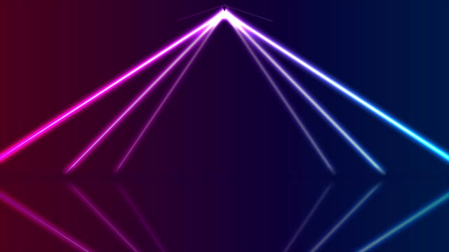 Blue ultraviolet neon laser lines video animation Blue and ultraviolet neon laser glowing lines with reflection, abstract arch motion background. Seamless loop. Video animation Ultra HD 4K 3840x2160 refraction stock videos & royalty-free footage