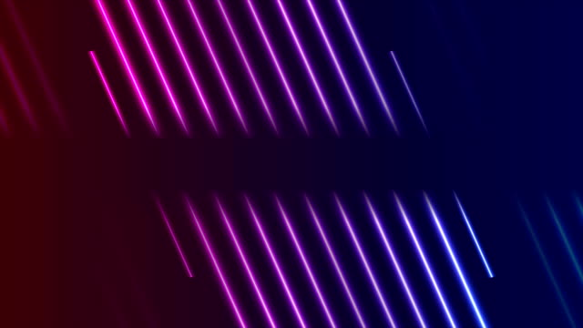 Blue ultraviolet neon laser rays video animation