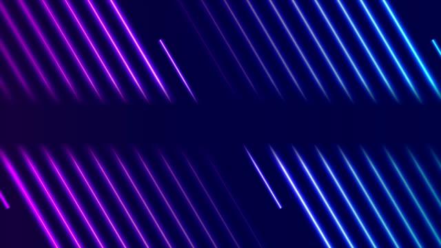 ブルーバイオレットネオンレーザーラインビデオアニメーション - パターン点の映像素材/bロール
