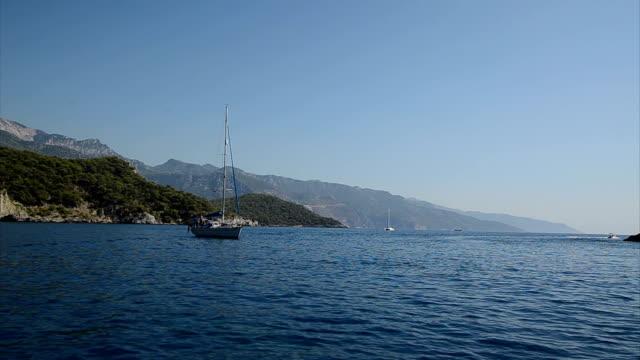 Blue Voyage. Blue voyage in Fethiye. aegean sea stock videos & royalty-free footage