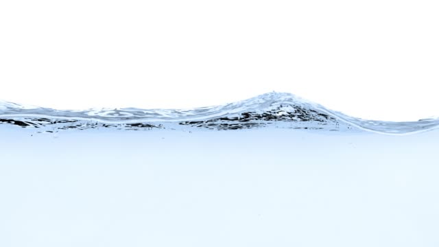 Blue water splash on white background