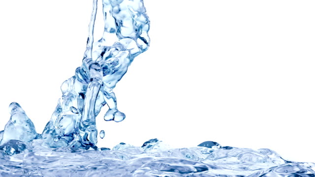 Blue Water Splash, with alpha channel. Slow motion. video