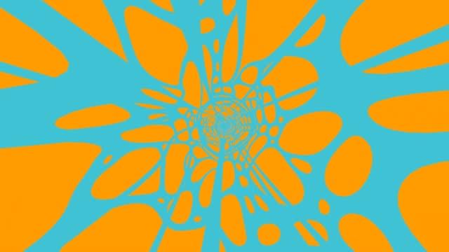 Blauwe Golf op oranje achtergrond video