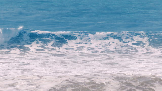 Blue waves of the Pacific Ocean in Pacifica, California video