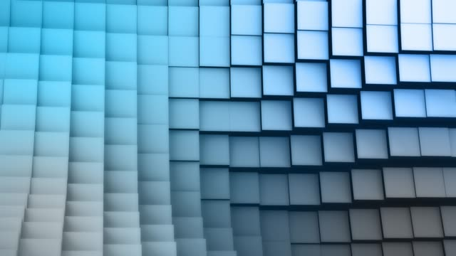 Blue White Cubic Wave